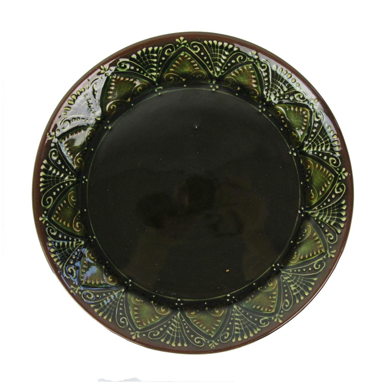 Farfurie Pentru Desert Din Ceramica Verde 20 Cm