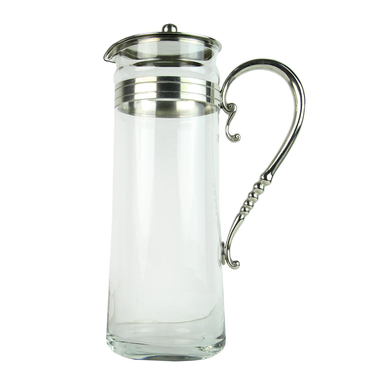 Carafa Din Sticla Si Cositor 26.5 Cm