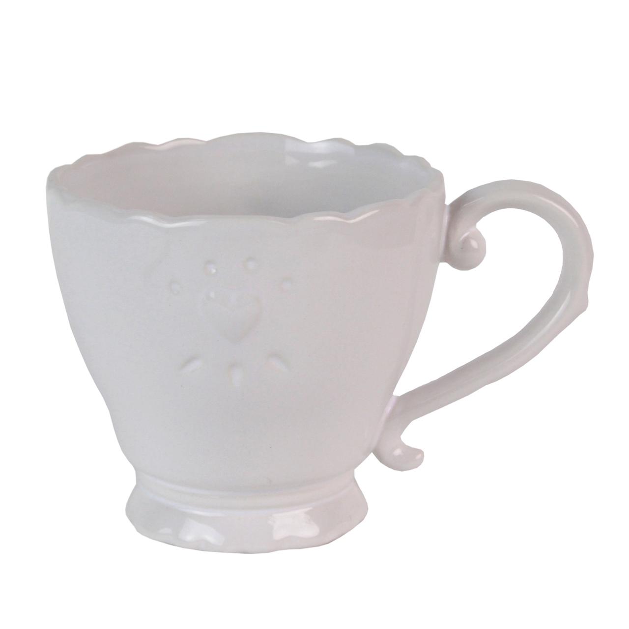 Ceasca Din Ceramica Alba 9.5 Cm
