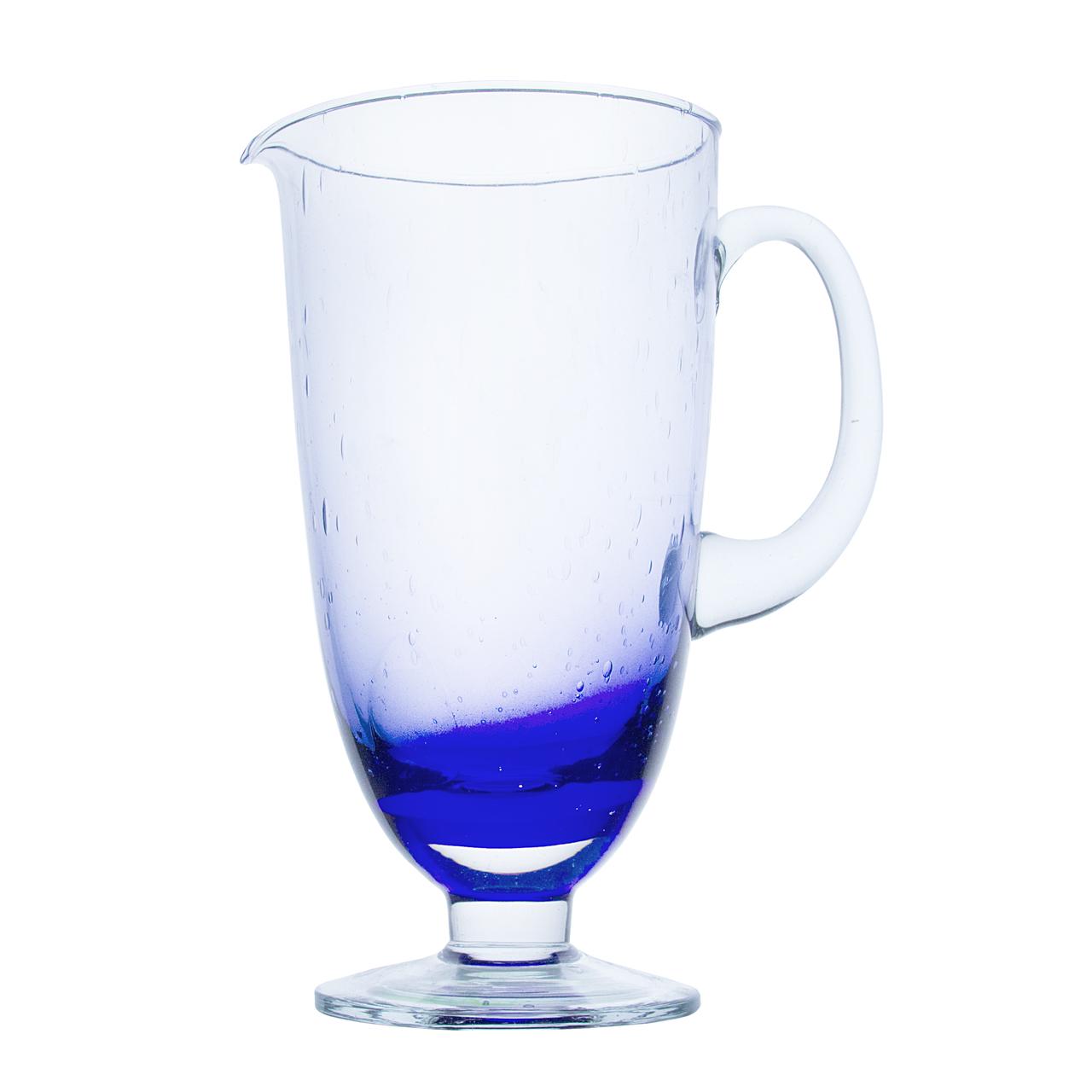 Carafa Din Sticla Albastra 27 Cm