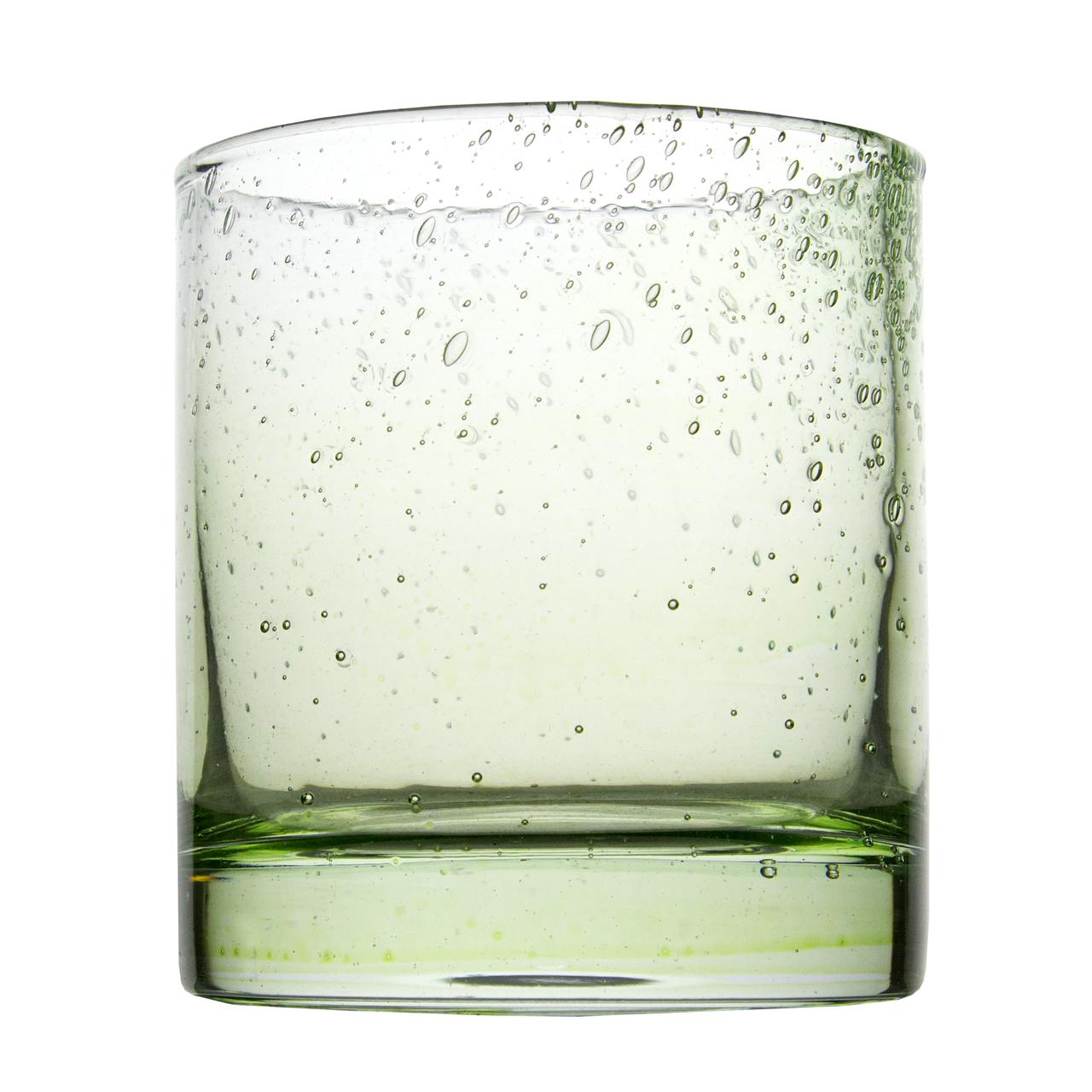 Pahar Sparkle Din Sticla Verde Deschis 10 Cm