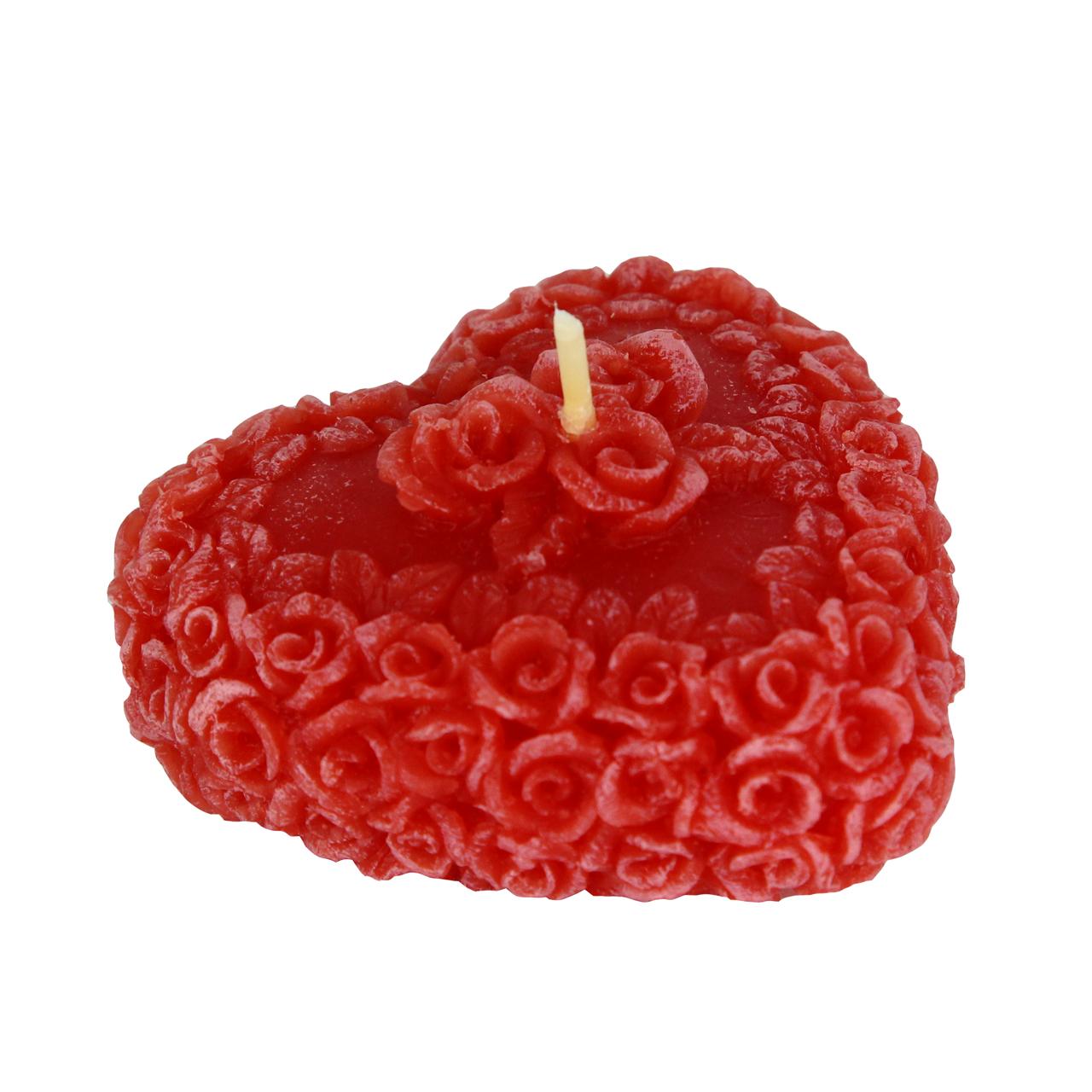 Lumanare Decorativa Inima Rosie