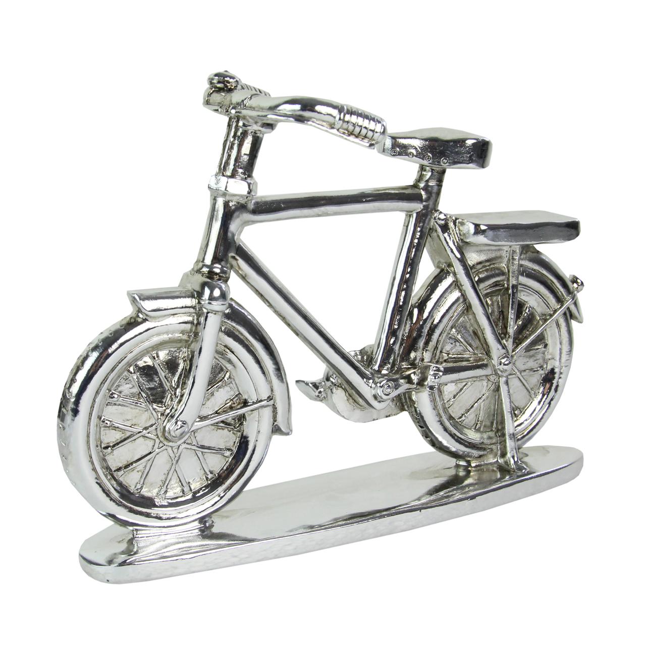 Macheta Bicicleta Argintie 20 Cm