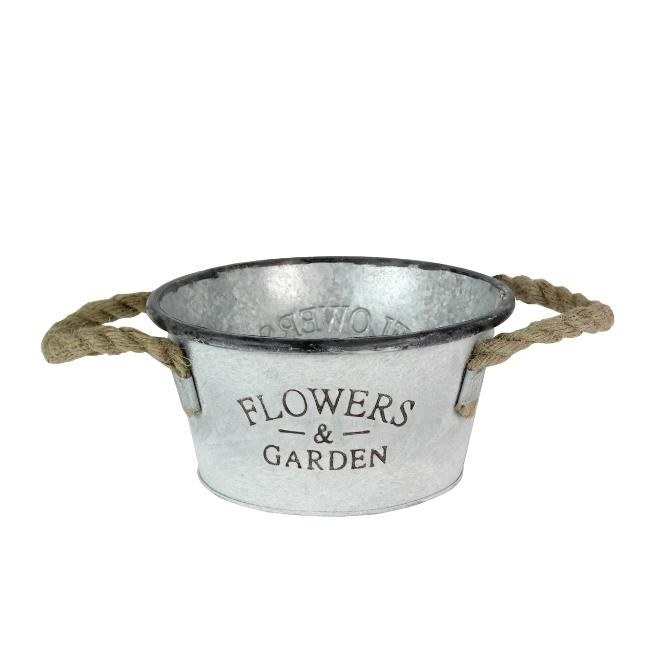 Jardiniera Din Metal Gri 24 Cm
