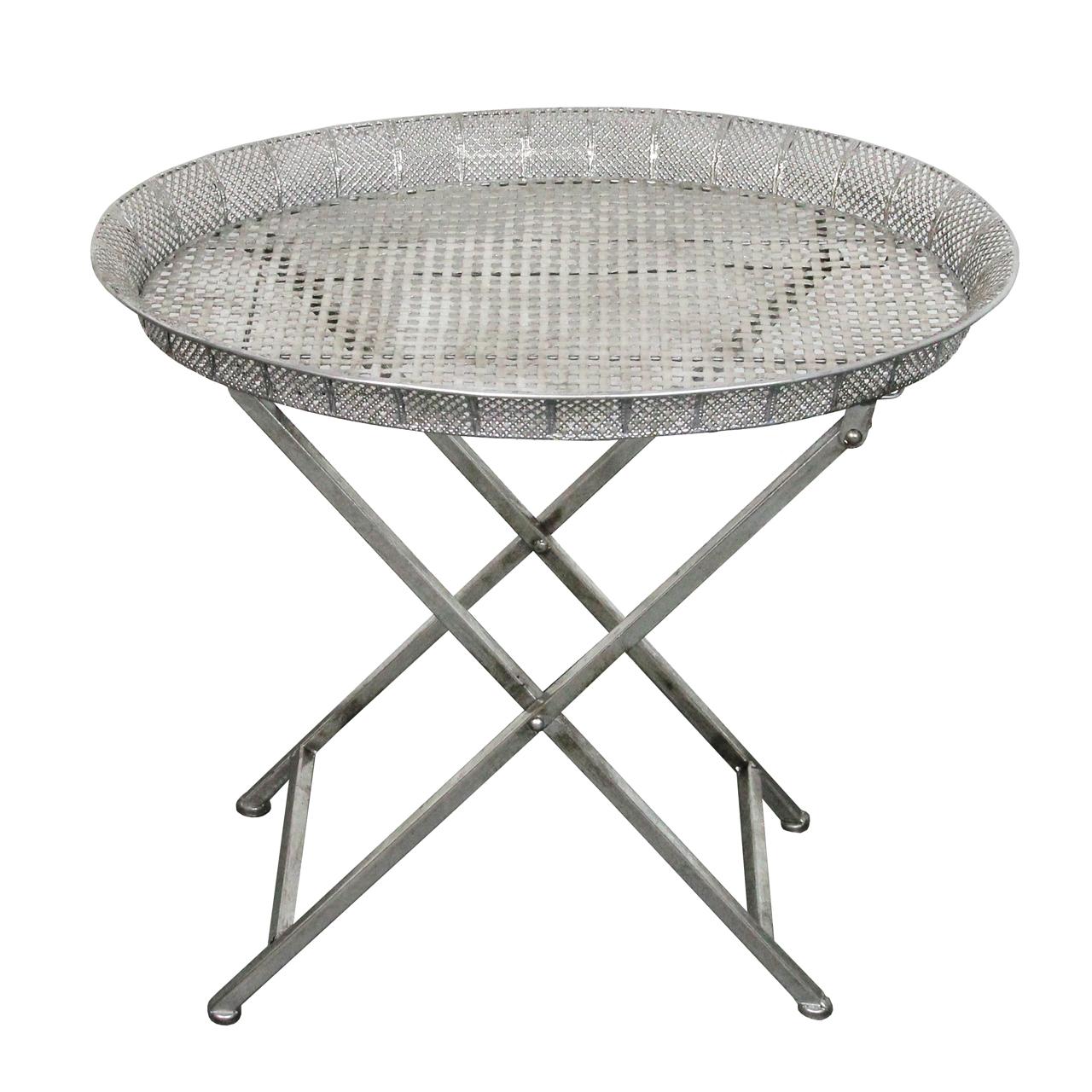 Masa Orina Din Metal Argintiu 57x44x50 Cm