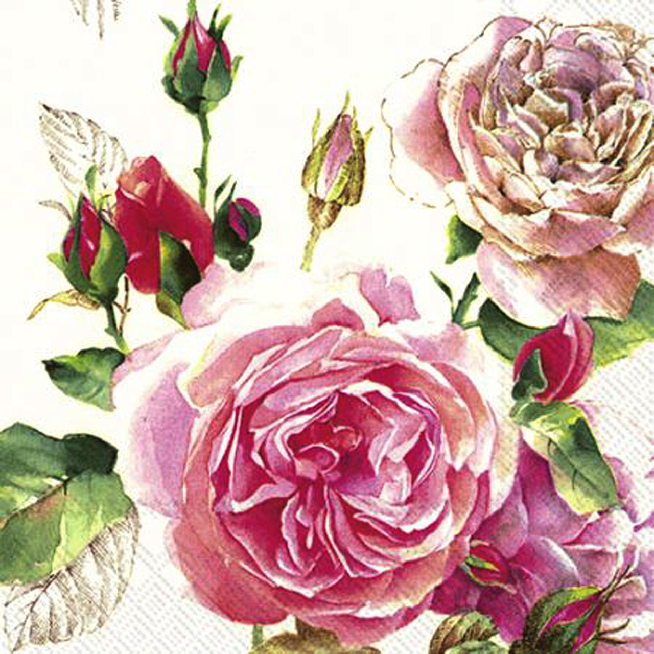 Servetele Decorative Din Hartie Cu Trandafiri 25 C