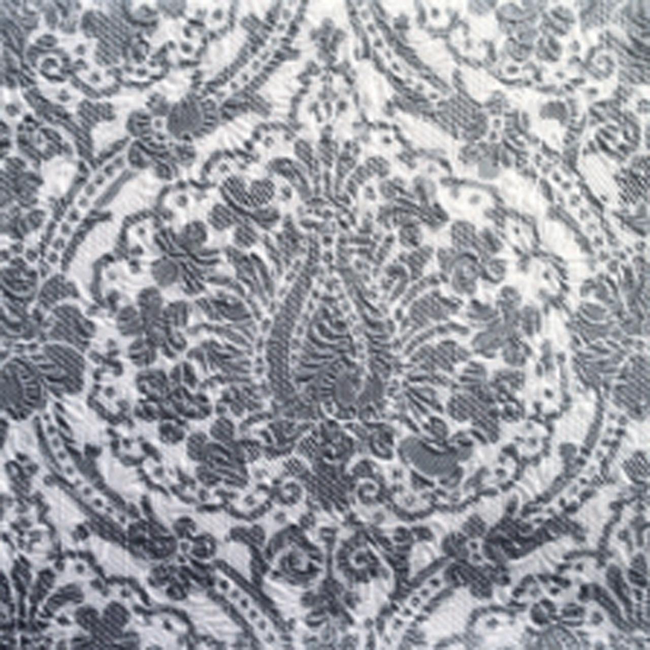 Servetele Decorative Din Hartie Cu Flori Argintii 33 Cm