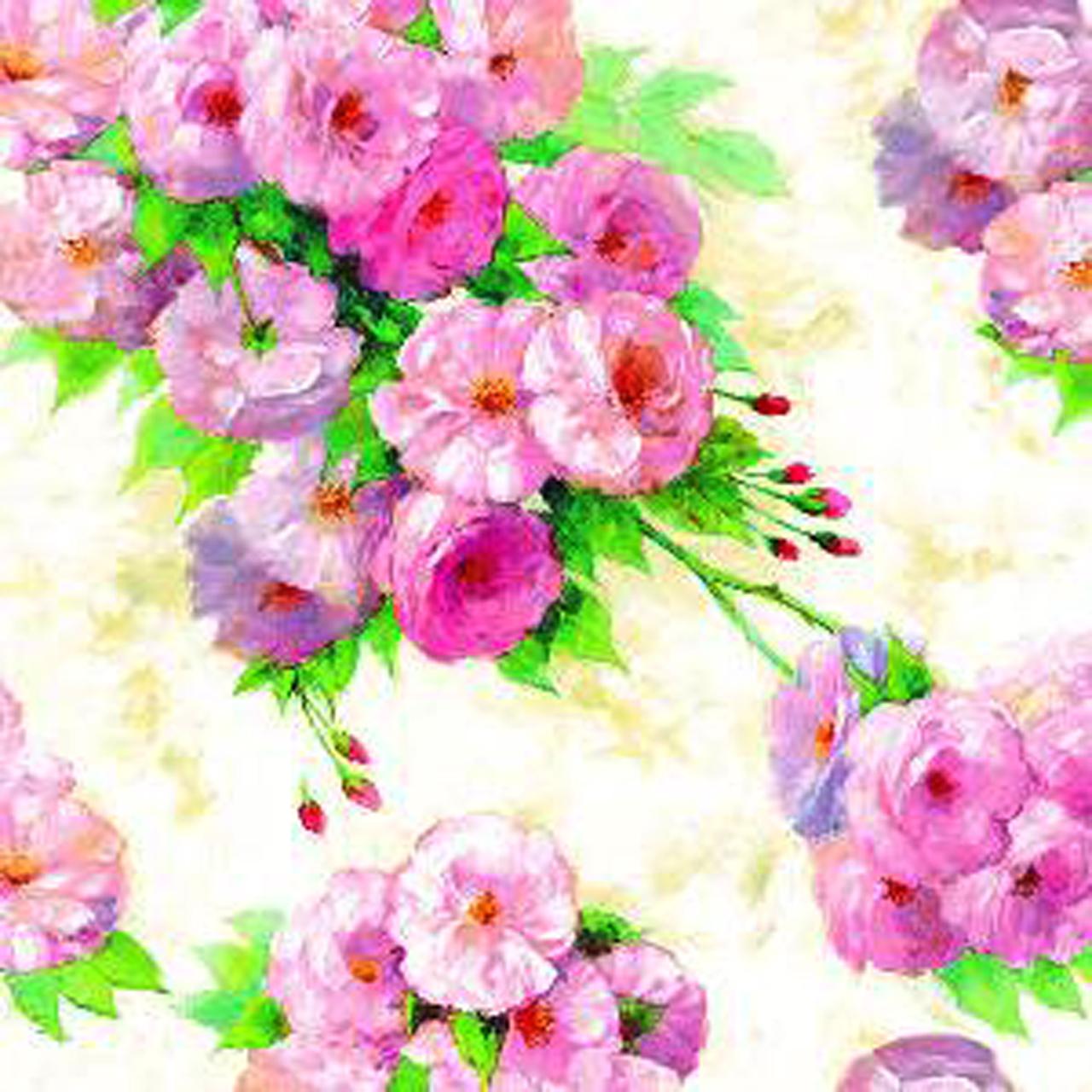 Servetele Decorative Din Hartie Cu Flori Roz 33 Cm