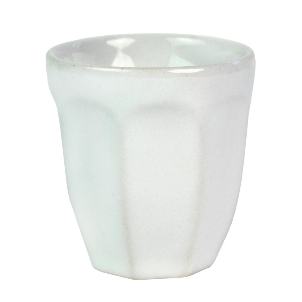 Pahar Din Ceramica Alba 6 Cm