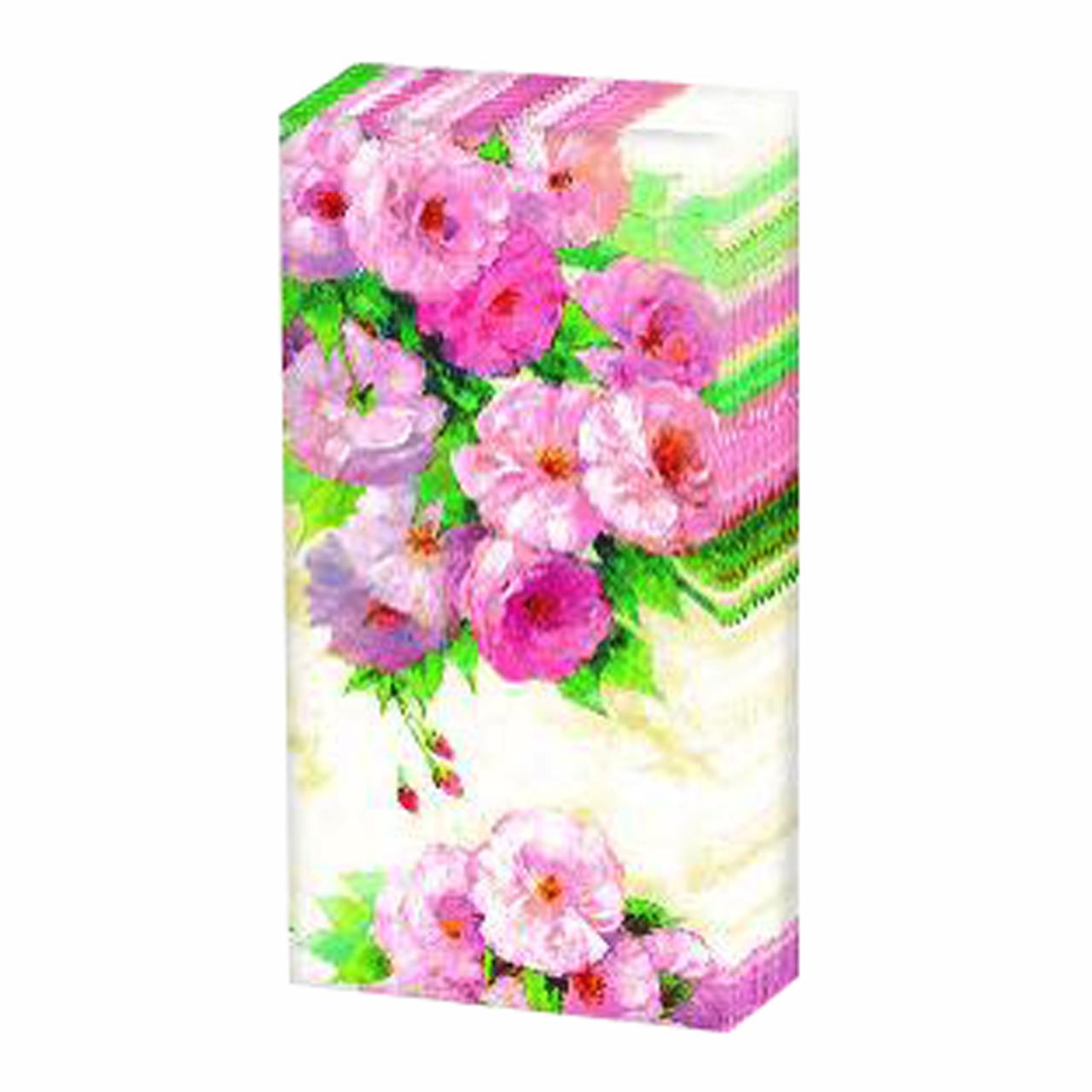 Servetele Decorative Batistute Din Hartie Cu Flori Roz