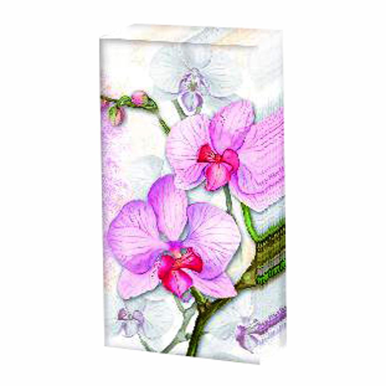 Servetele Decorative Batistute Din Hartie Cu Orhidee Roz