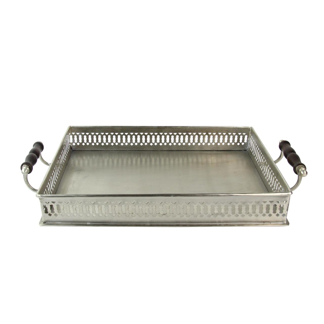 Tava Cu Manere Din Metal Argintiu 46x26 Cm