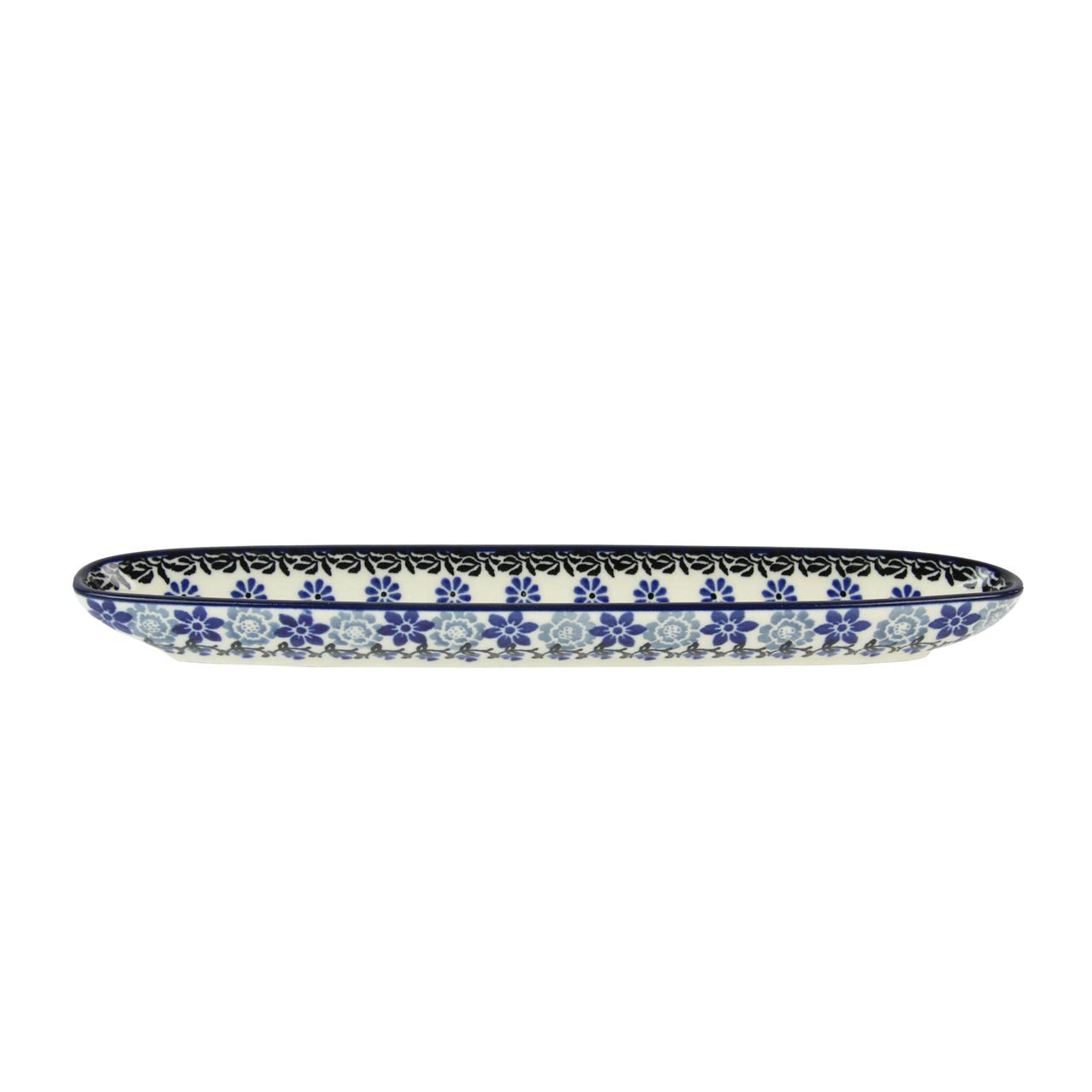 Tava Pentru Masline Cu Flori Din Ceramica 25.5 Cm