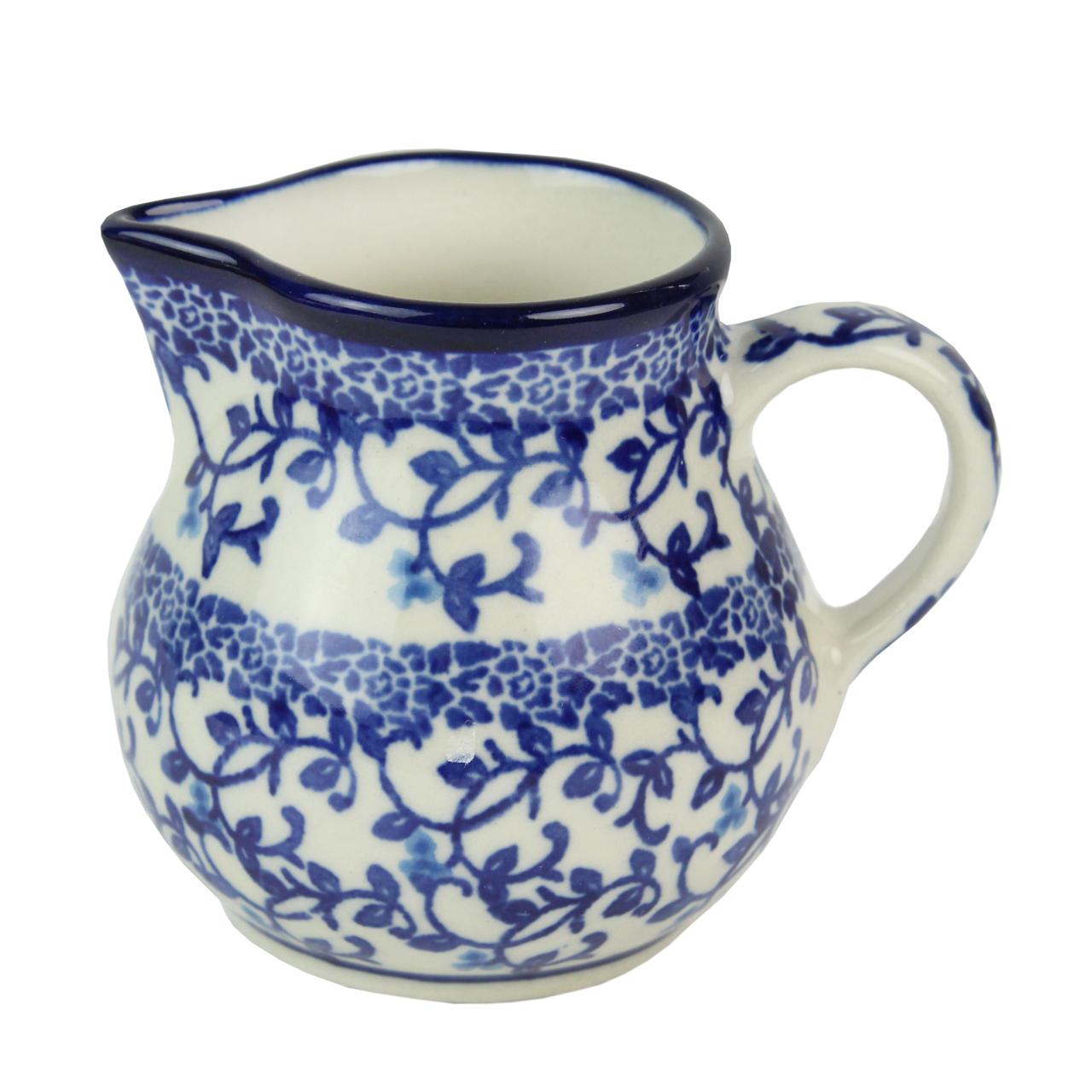 Sosiera Din Ceramica Crem Cu Crengute Albastre 8 Cm