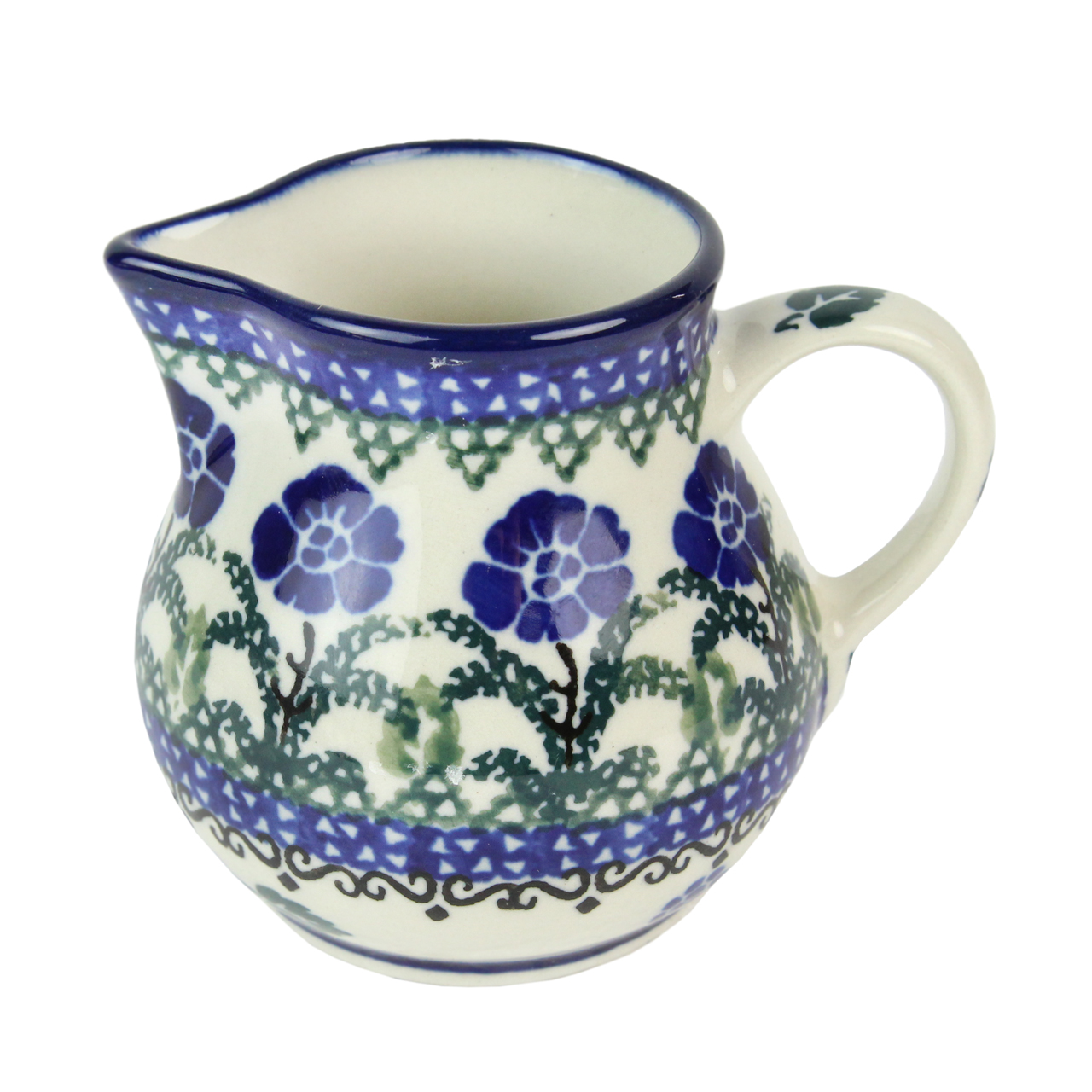 Sosiera Din Ceramica Crem Cu Flori 8 Cm