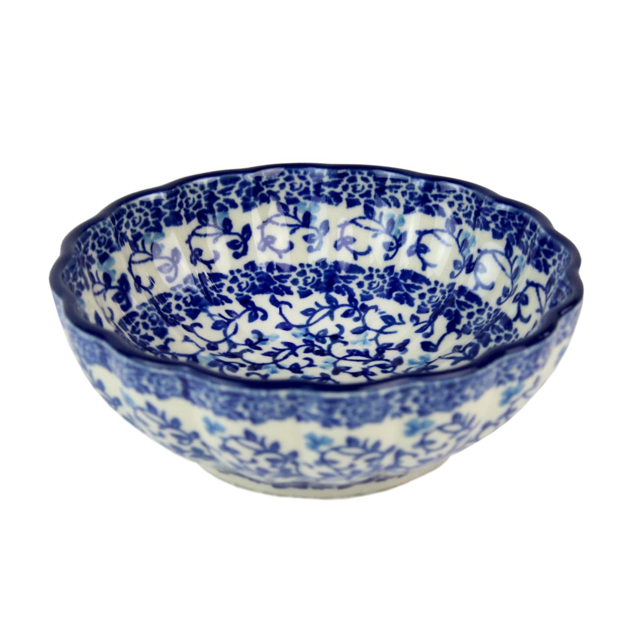 Bol Din Ceramica Cu Crengute Albastre 12 Cm