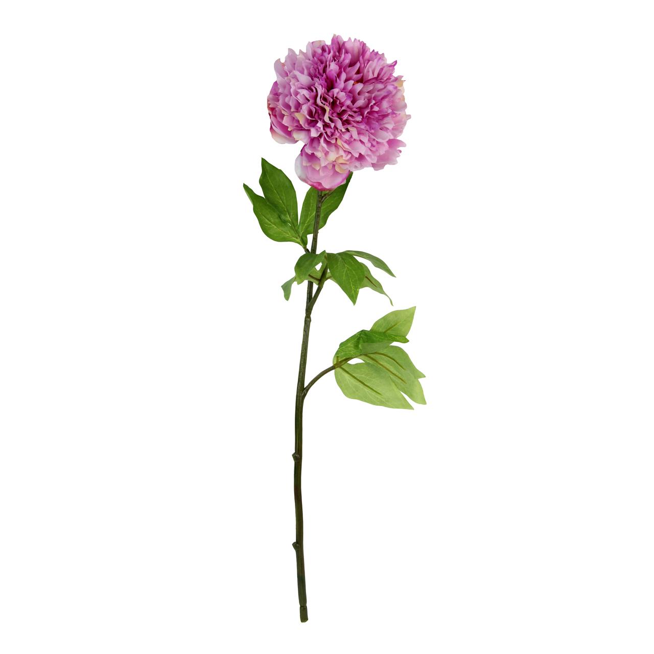 Floare Artificiala Bujor Roz 42 Cm