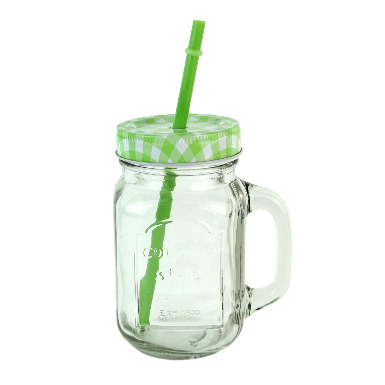 Cana Pentru Limonada Cu Capac Verde 13.5 Cm