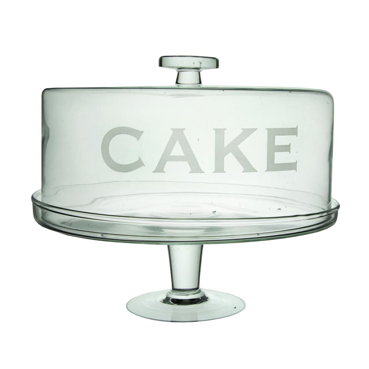Platou Pentru Prajituri Din Sticla Cu Alb 25 Cm