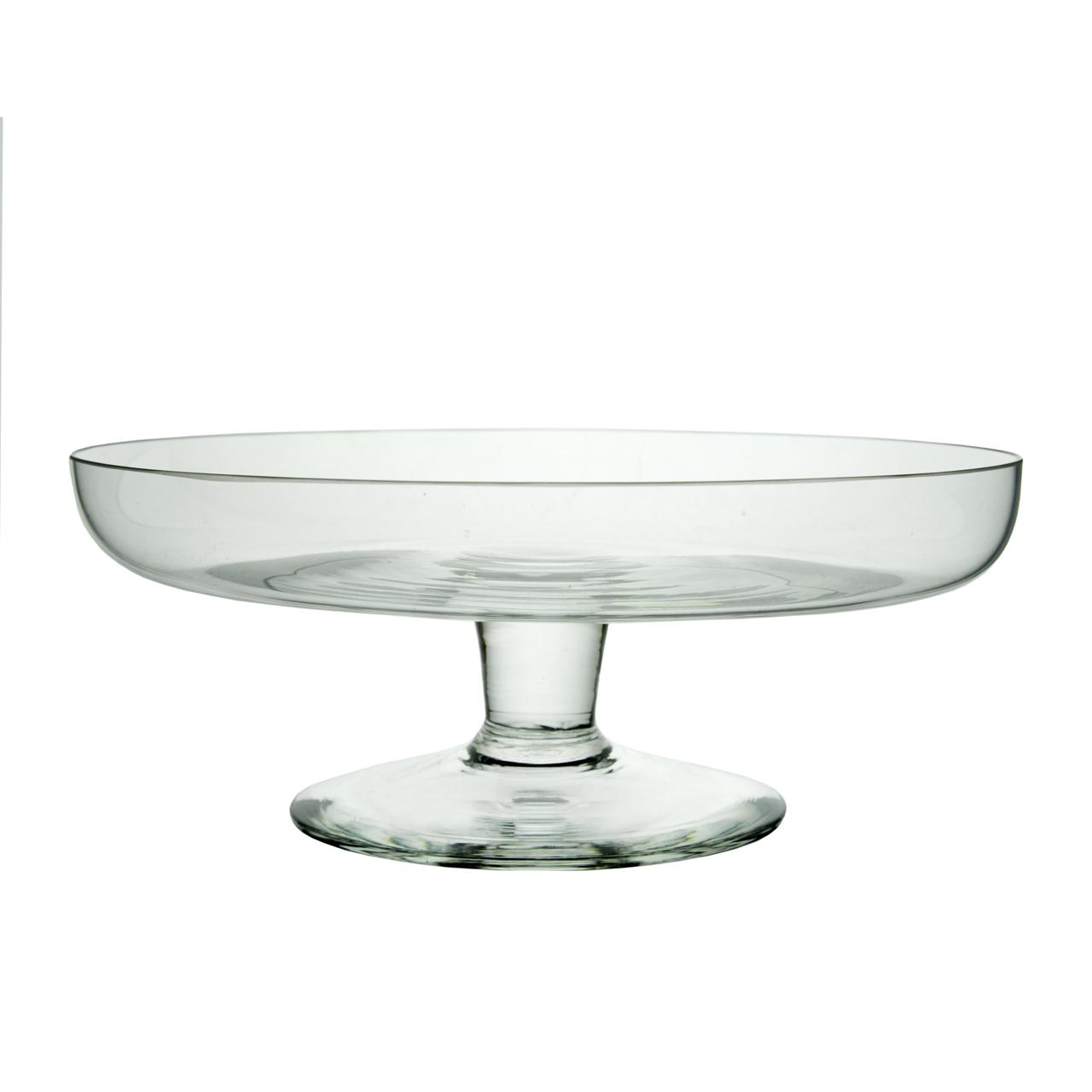 Platou Cu Picior Din Sticla 25 Cm