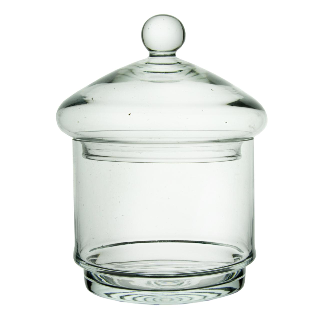Recipient Cilindric Cu Capac Din Sticla 18 Cm