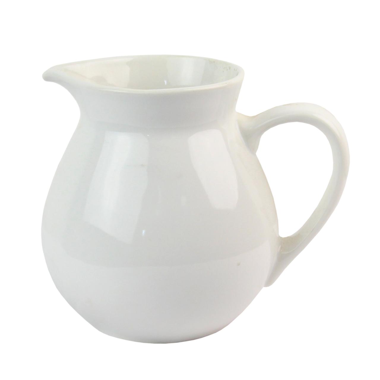 Carafa Din Ceramica Alba 17 Cm