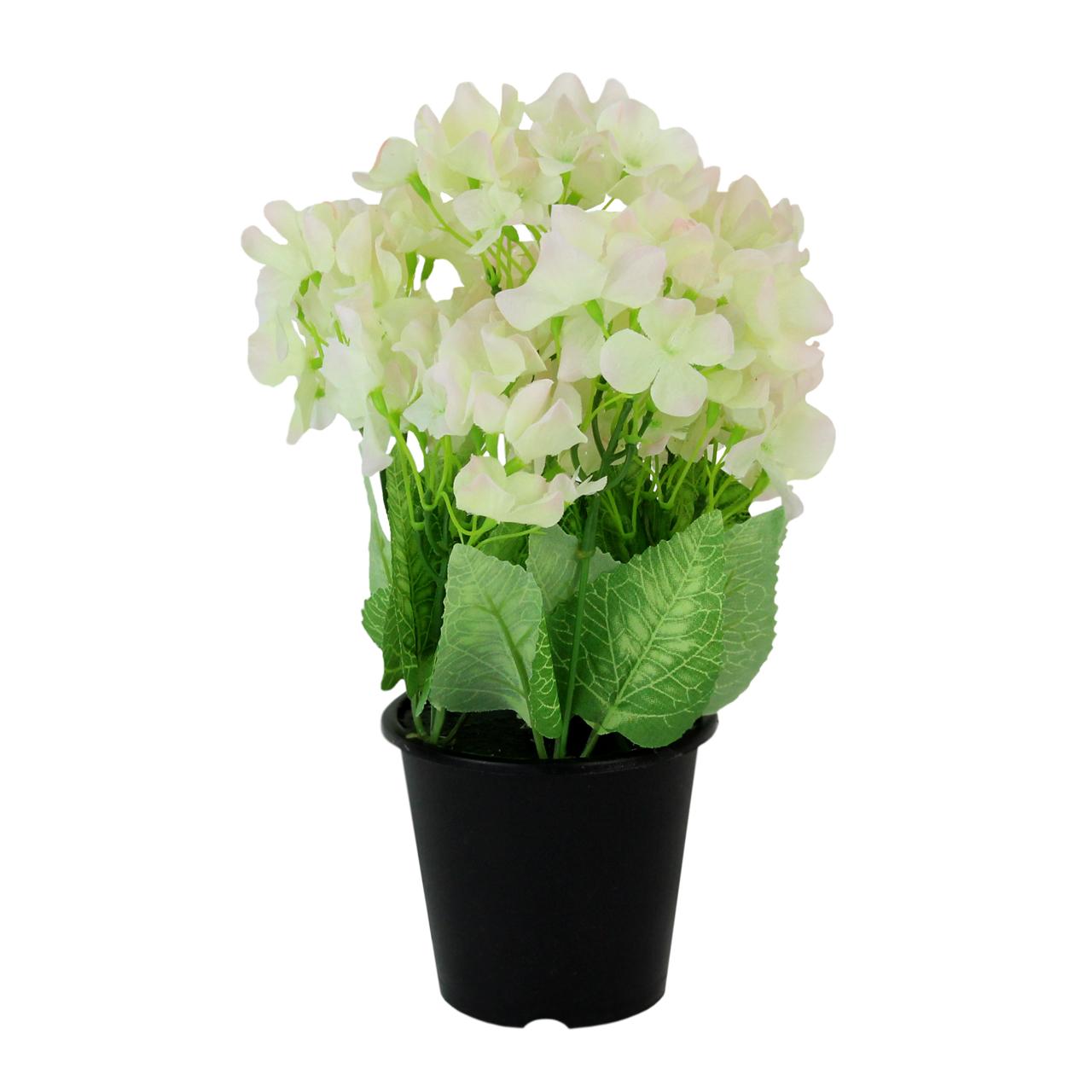 Floare Artificiala Hortensia In Ghiveci 27 Cm