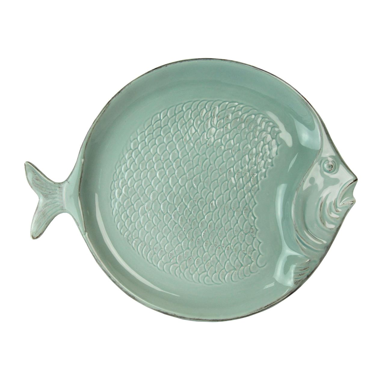 Platou Peste Din Ceramica Turcoaz 31x24 Cm