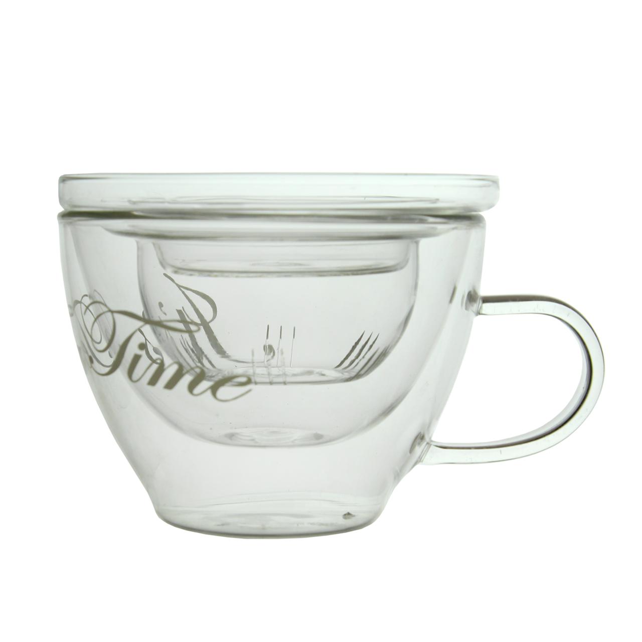 Ceasca Pentru Ceai Cu Infuzor Din Sticla 10 Cm