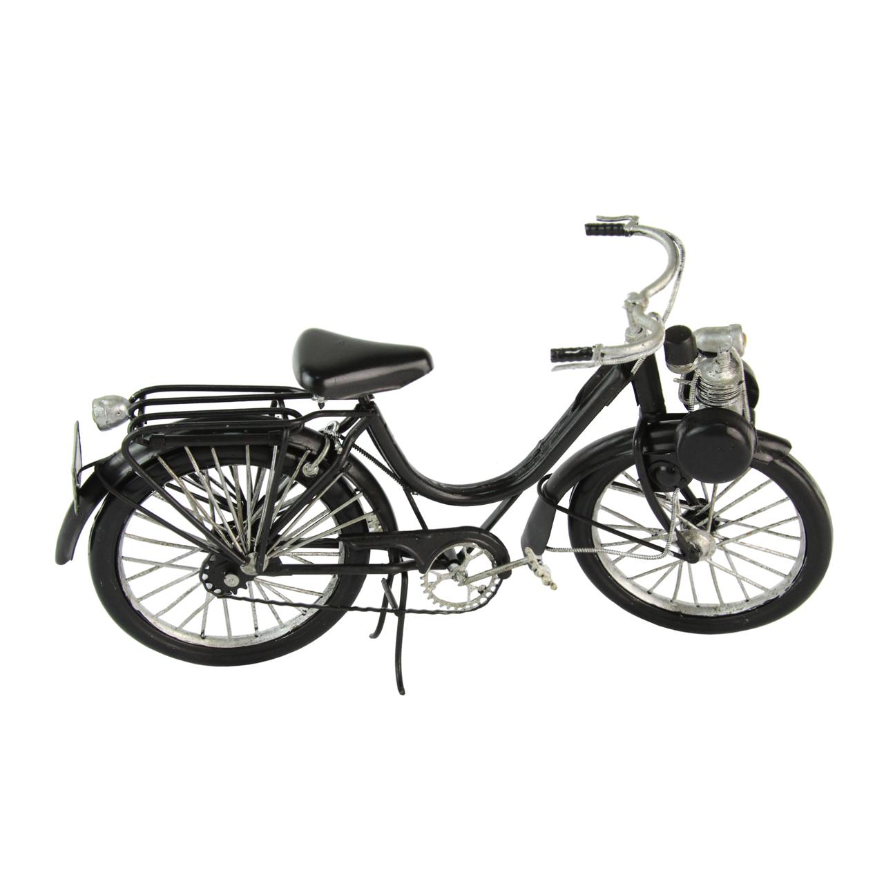 Macheta Bicicleta Din Metal Negru 27 Cm