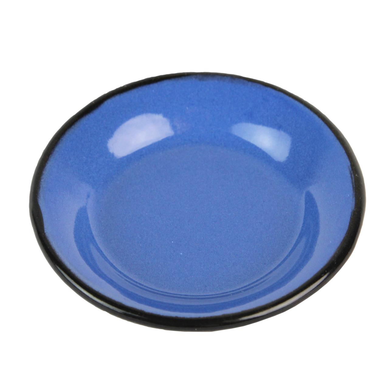 Farfurie Din Metal Albastru 8 Cm