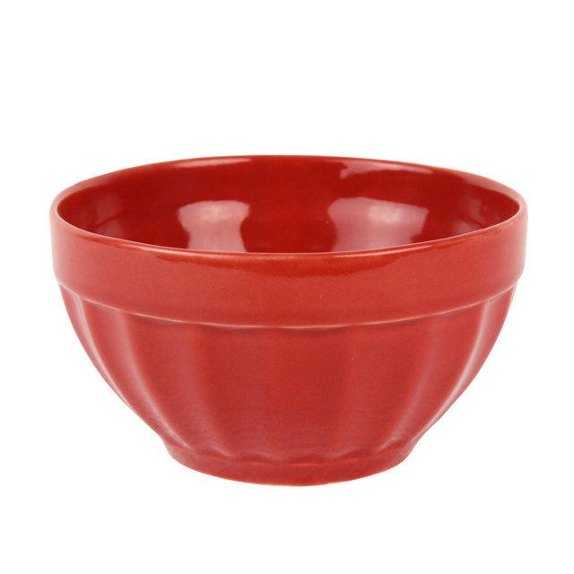 Bol Din Ceramica Rosie 13 Cm