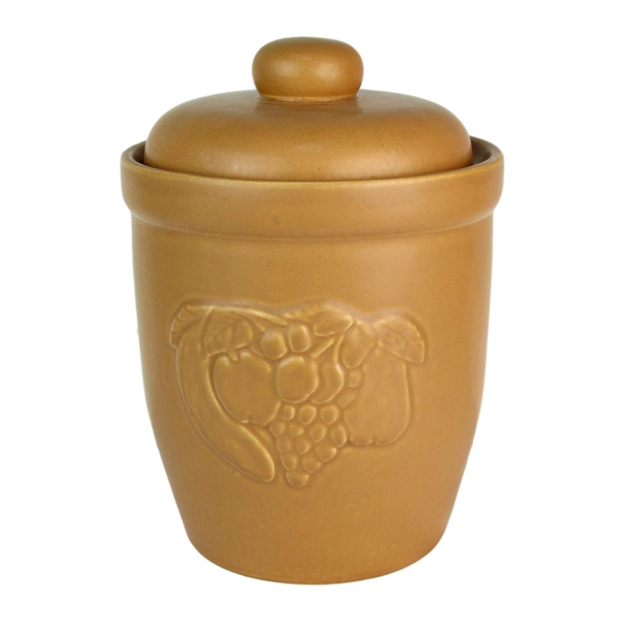 Recipient Cu Capac Din Ceramica Maro 30 Cm
