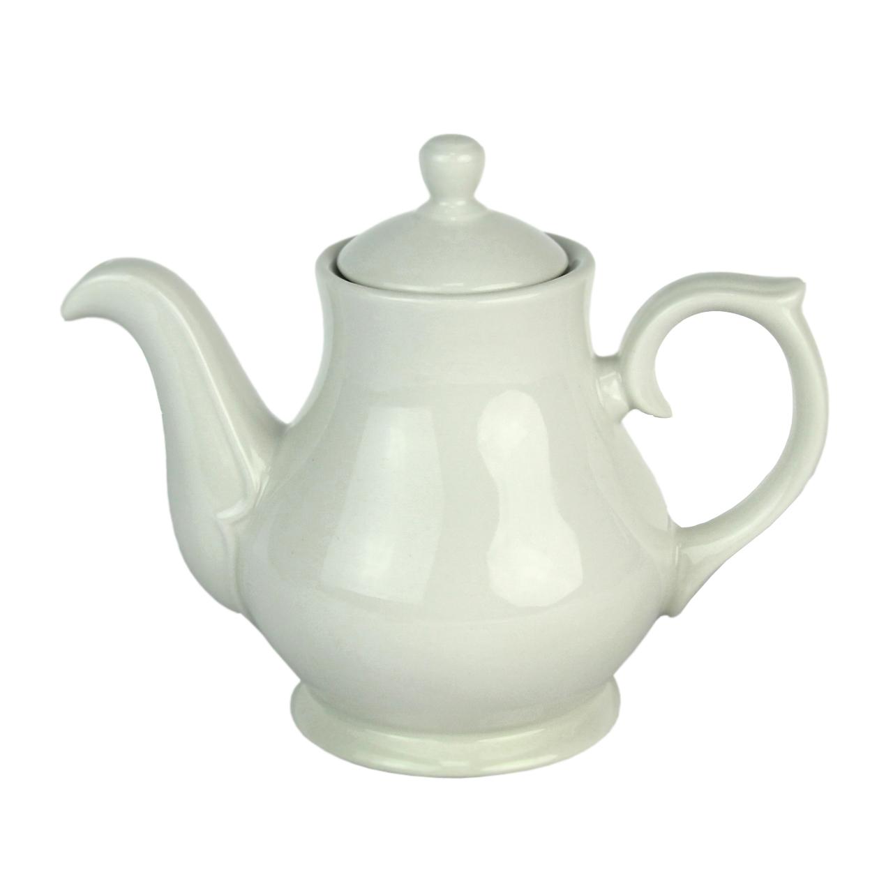 Ceainic Din Ceramica Alba 14 Cm