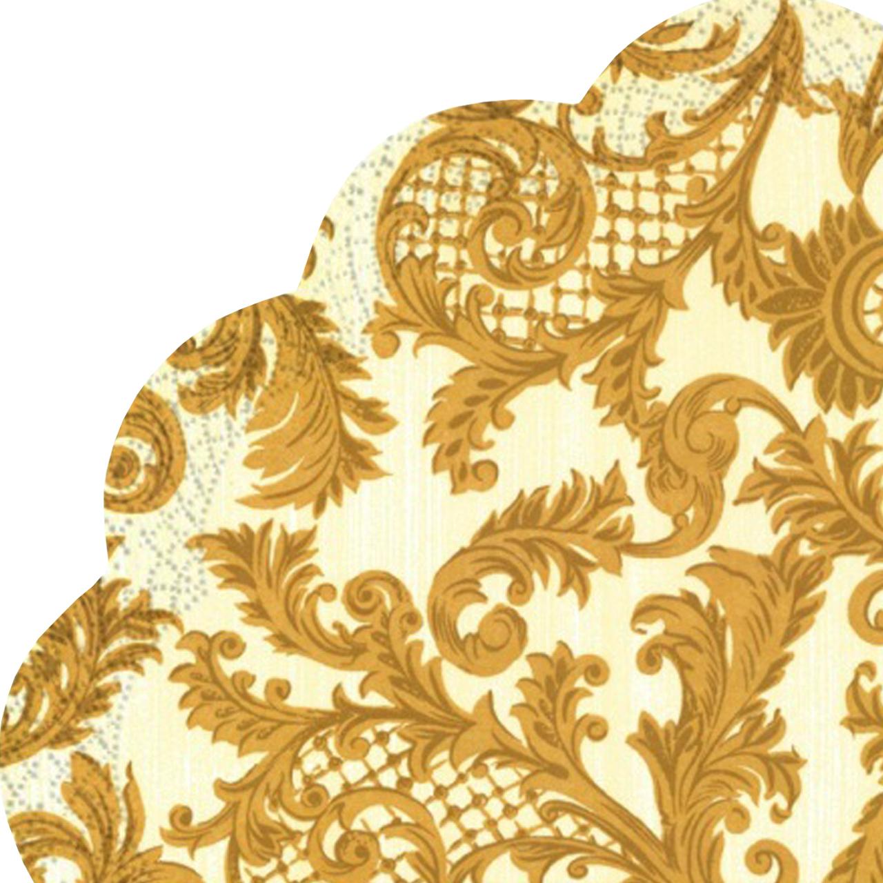Servetele Decorative Din Hartie Crem Cu Maro 34 Cm