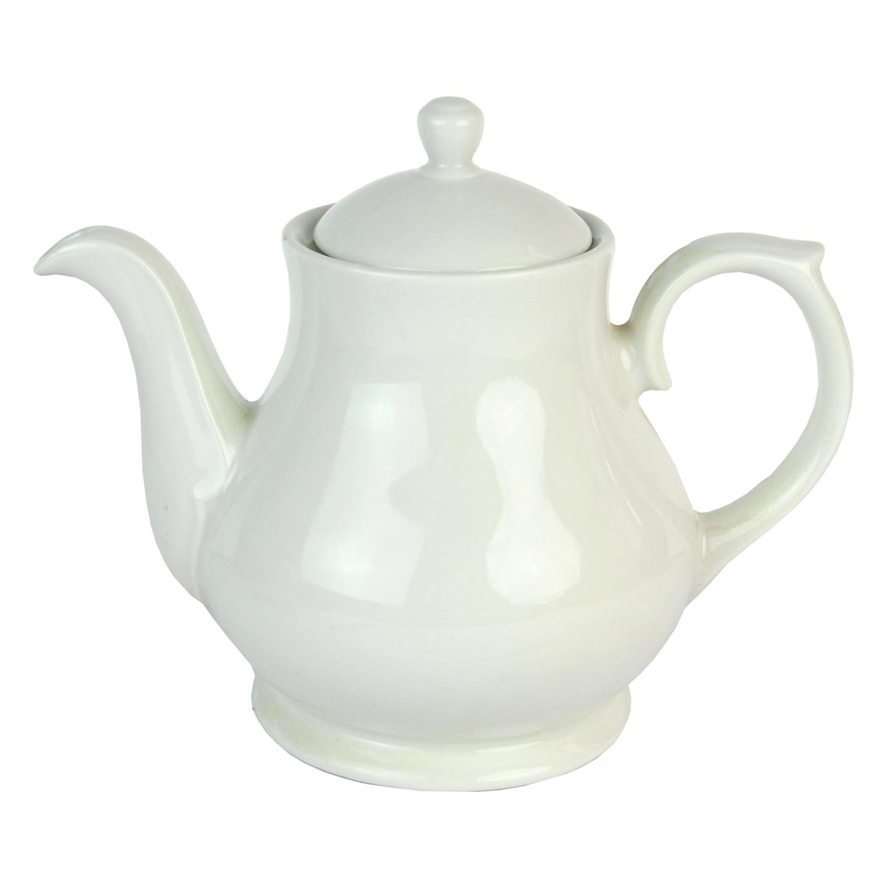 Ceainic Din Ceramica Alba 18 Cm