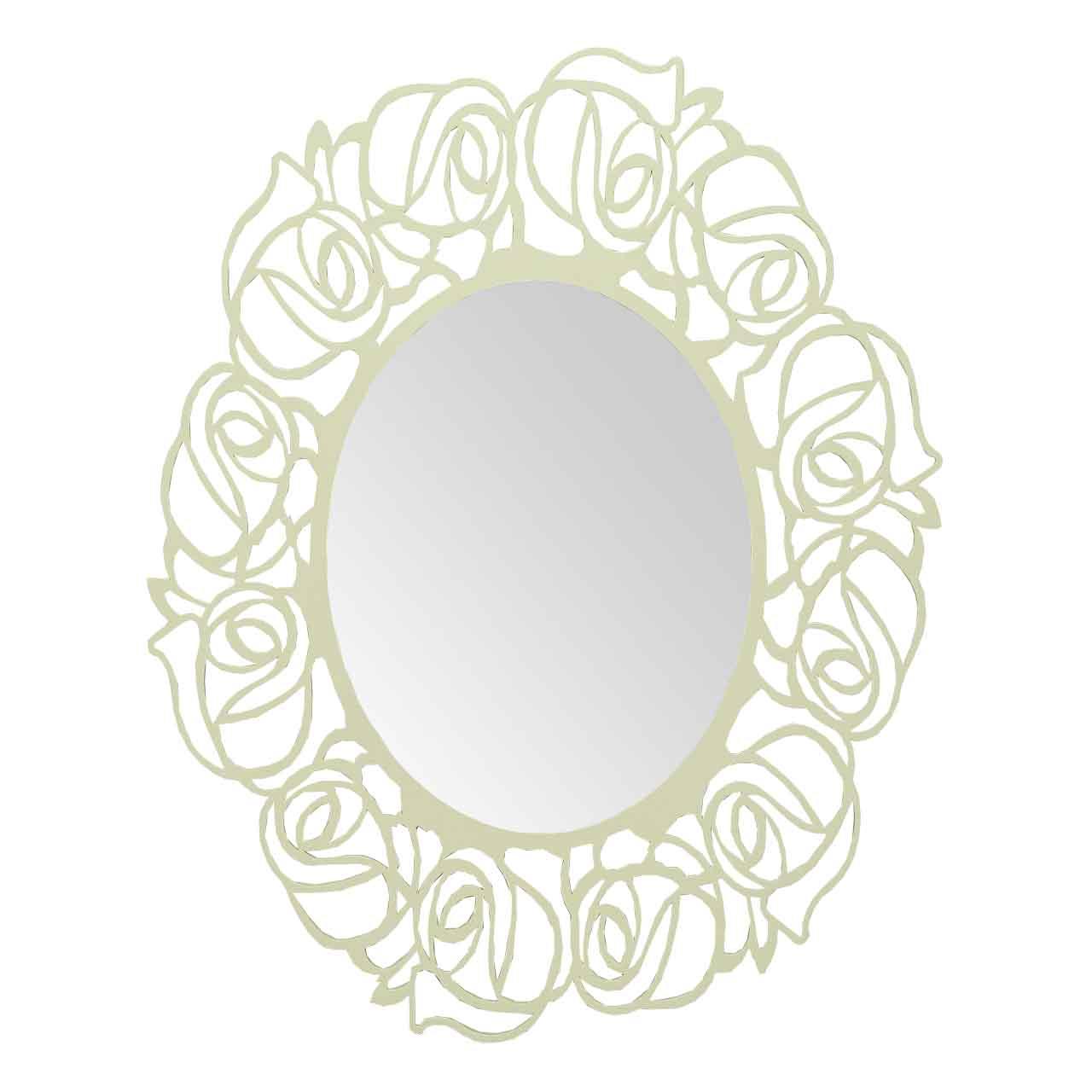 Oglinda Cu Rama Din Lemn Alb 120 Cm