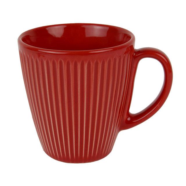 Cana Din Ceramica Rosie 10 Cm