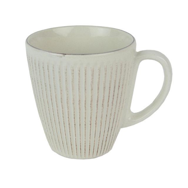 Cana Din Ceramica Crem 10 Cm