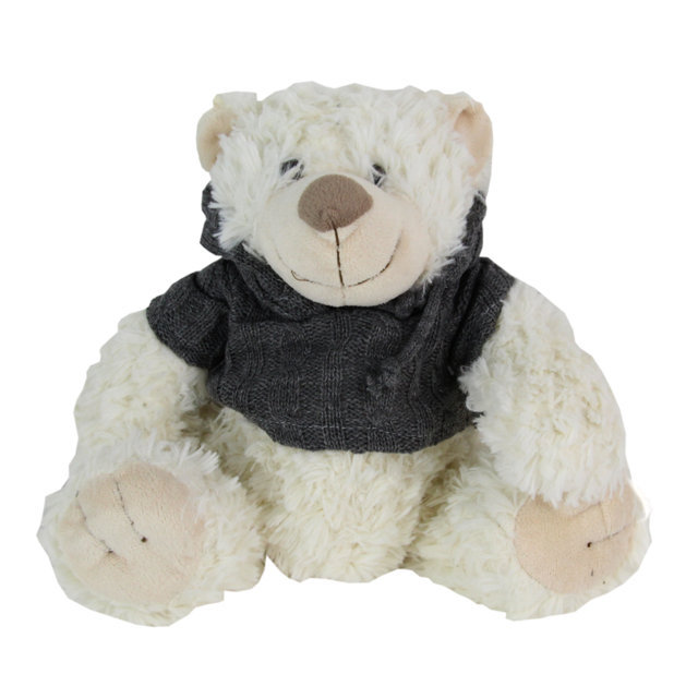 Jucarie Ursulet Din Plus Cu Pulover Gri 23 Cm