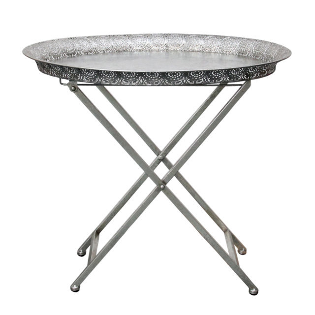 Masa Rabatabila Din Metal Argintiu 57x44 Cm