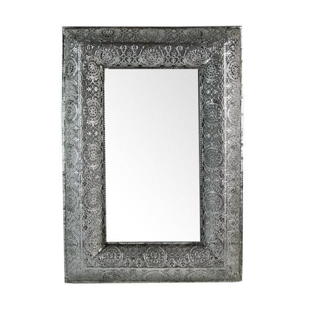 Oglinda Marseille Cu Rama Din Metal Argintiu 35x50