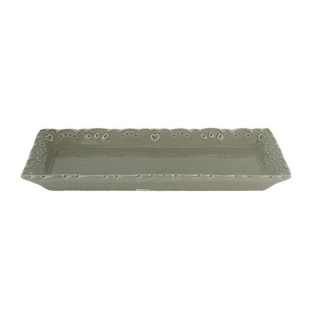 Platou Din Ceramica Gri 34 Cm