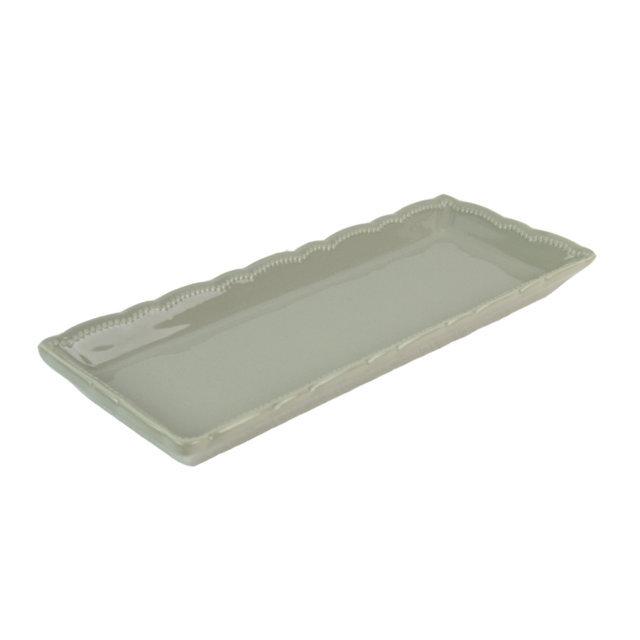 Platou Din Ceramica Gri 32 Cm