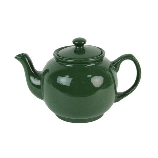 Ceainic Din Ceramica Verde 15 Cm