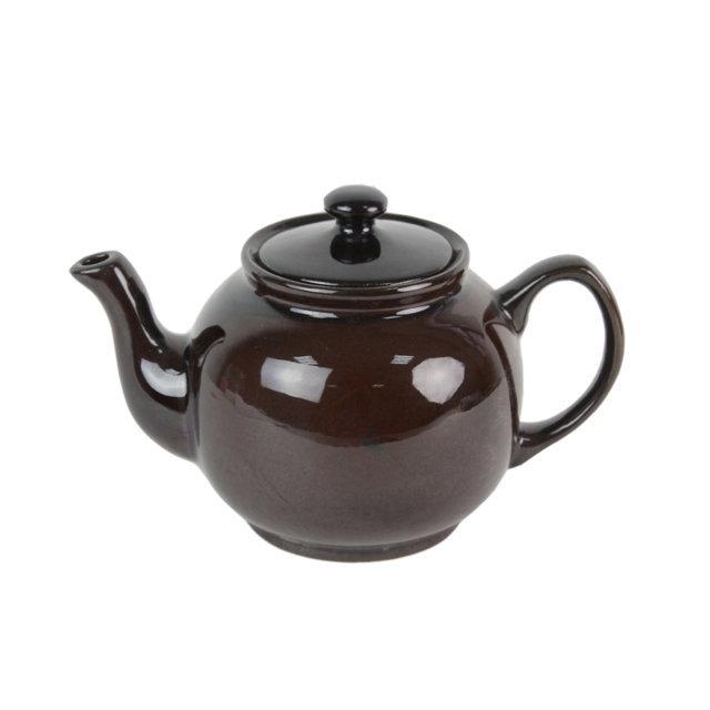 Ceainic Din Ceramica Maro 15 Cm
