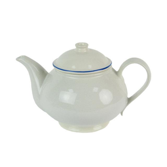 Ceainic Din Ceramica Alba 15 Cm