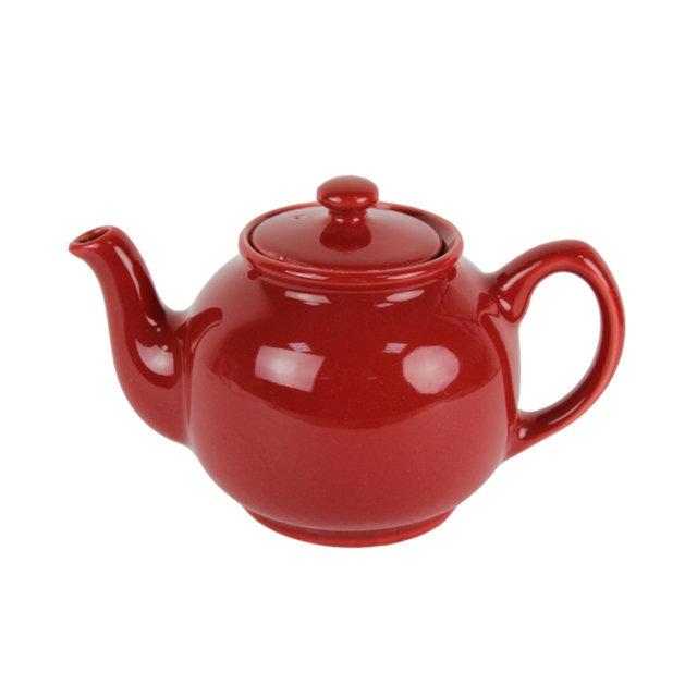 Ceainic Din Ceramica Rosie 15 Cm