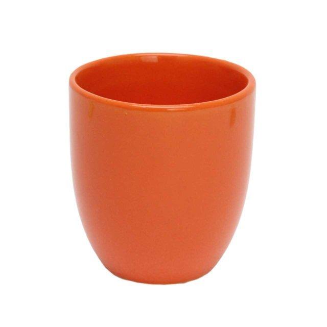 Pahar Din Ceramica Portocalie 8 Cm