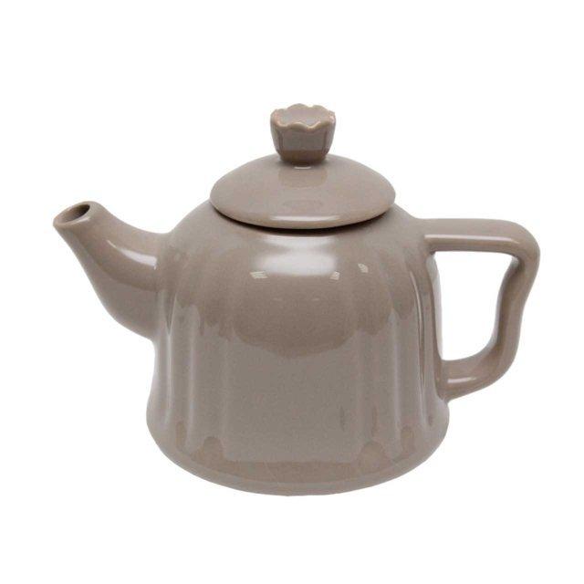 Ceainic Din Ceramica Gri 13 Cm
